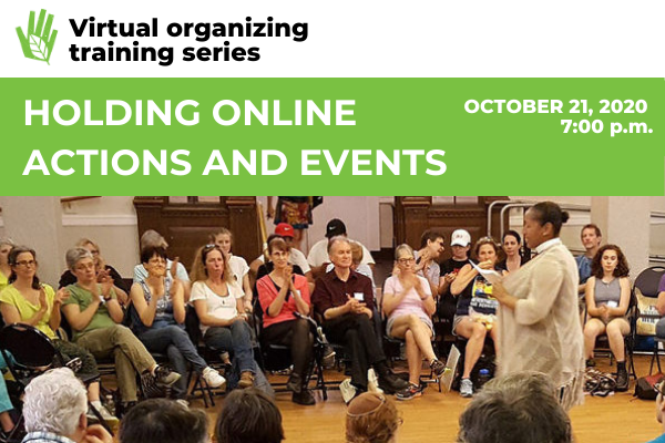 Image for Holding Online Actions and Events webinar
