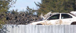 Junkyards can contain many hazardous materials.